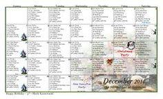 Assisted Living Calendar
