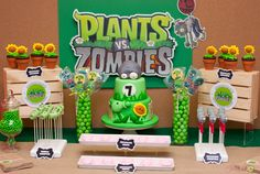 plants vs zombies birthday theme - Google Search