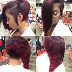 Love this cut and color diaryofahairstylist redhair dallasstylist bob voiceofhair ✂️========================== Go to VoiceOfHair.com ========================= Find hairstyles and hair tips! =========================
