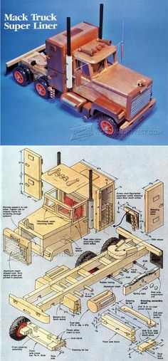Wooden Truck Plans - Wooden Toy Plans and Projects | WoodArchivist.com #WoodworkingPlans