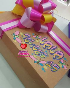 Decorated boxes rnrnSource by leidaleah Happy Birthday Mom, Friend Birthday, Surprise Box, Candy Bouquet, Gift Packaging, Happy Fathers Day, Paper Piecing, Gift Baskets, Gifts For Women