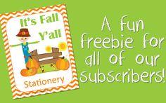 FREE Fall Stationery - The Multi Taskin' Mom
