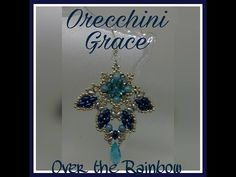 Orecchini Grace - rivoli 12mm, perle 4mm, bicono 3mm, superduo, miniduo, o beads - YouTube