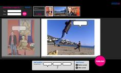 Bubblr |http://www.pimpampum.net/bubblr/   This is a great site that lets you use Flickr pictures to create comic strips.