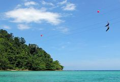 Zip Line from island to island