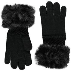 Forever 21 Forever 21 Faux Fur-Trim Gloves ($13) ❤ liked on Polyvore featuring accessories, gloves, forever 21 gloves, lightweight gloves and forever 21