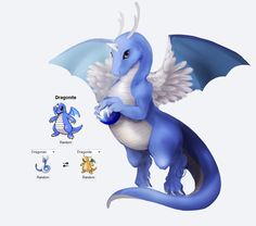Blue Dragonite (more Dragonair features) Pokemon fusion art Festa Pokemon Go, Pokemon Mix, Pokemon Fusion Art, Mega Pokemon, Play Pokemon, Pokemon Comics, Pokemon Funny, Pokemon Fan Art, Pokemon Umbreon