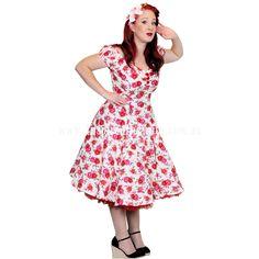 Plus Sizes :: Plus Sizes 20 - 22 :: Vintage Floral Spring Fling Rockabilly Swing Dress