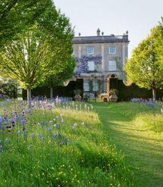 Mown path & garden wall.