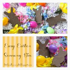 Kitchen Floor Crafts: Easy Easter Sensory Bin