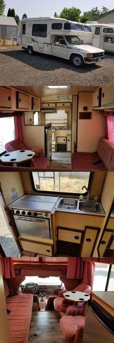 1986 Toyota Sunrader Camper Trailer For Sale, Camping Trailers, Camper Van, Toyota Motorhome, Bus House, Camper Makeover, Mobile Homes, Tiny Houses, Van Life