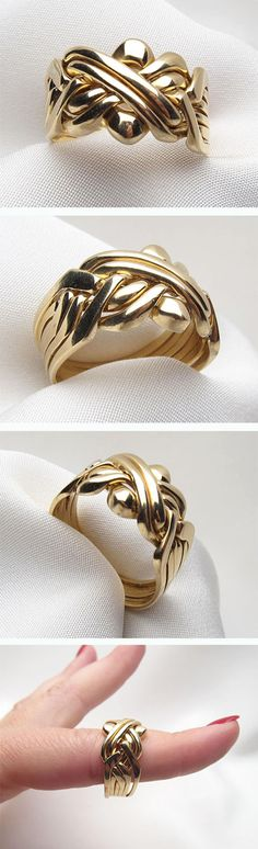 Edwardian era gold puzzle ring. Mysterious and unique!