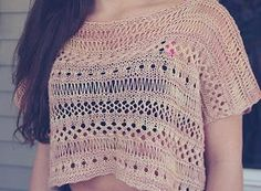 The Beginner Boxy Lace Knit Top will be one of your favorite knitting ideas this summer. This gorgeous shirt pattern uses a variety of lace knitting techniques to show you how to make a shirt that is interesting and unique. Top patterns can be daunti