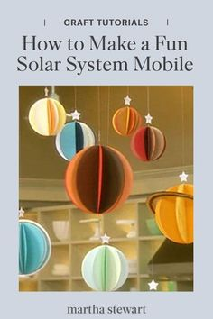 Learn how to make a colorful paper solar system mobile for a stylish hanging decoration to any nursery and is a great way to introduce older children to the planets. #marthastewart #crafts #diyideas #easycrafts #tutorials #hobby Make A Solar System, Solar System Mobile, Solar System Projects, Space Party, Space Theme, Sistema Solar 3d, Planet Mobile, Planet Crafts, Coffee Filter Roses