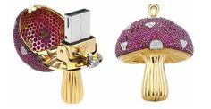 World's most expensive diamante mushroom USB
