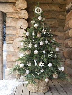 Silver Acorn Babiole-Large ou Mini Style Vintage Verre Suspendu Noël Décoration