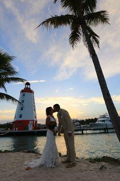 All of me loves all of you... #FLKeys #WeddingCeremony #Location #Jetty #FaroBlanco #PalmTree #Lighthouse #Yacht #SolarisPhotography