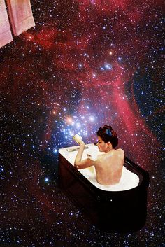EUGENIA LOLI  * Greek *  dreamy collages *  https://www.facebook.com/EugeniasCollages ** bubble bath