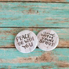 Pink Salt Riot // Peace Be With You Button Set
