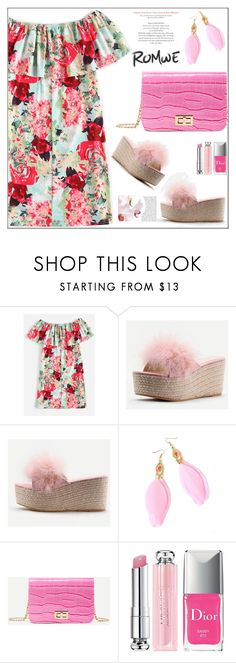 """""""Romwe 3/VI"""" by samra-bv ❤ liked on Polyvore featuring WithChic and Christian Dior"""