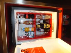Minibar at Andaz Hotel - soft drinks free; alcohol not so much!