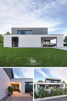 The post appeared first on Baustil. Modern Bungalow House, Concrete Garden, Design Studio, Home Fashion, Studios, House Plans, Villa, Loft, Exterior