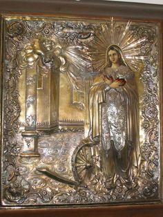 Ρωσική εικόνα της Αγίας Αικατερίνης. Σήμερα στη Στουτγκάρδη.