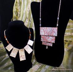 Amazing Casting Products: #Cre8time Stash Busting... AMAZING Resin Paper Jewelry by Tracy Alden