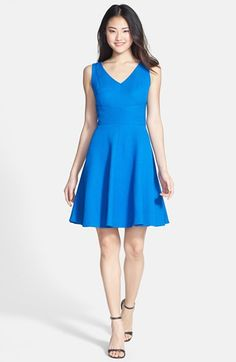 Donna Ricco Crepe Fit & Flare Dress (Petite) available at #Nordstrom