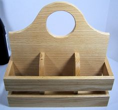 Wood utensil caddy plate and napkin holder Oak by BasketsByDebi, $35.00