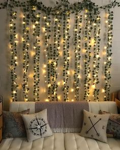 12 Pack inch) Artificial Ivy Garland Fake Plants Boho VSCO Hangout Teen Dorm Room Decor Backdrop - The Effective Pictures We Offer You About diy clothes A quality picture can tell you many things. Cute Room Ideas, Cute Room Decor, Teen Wall Decor, Diy Room Ideas, Cheap Room Decor, Easy Diy Room Decor, Small Room Decor, Room Wall Decor, College Room