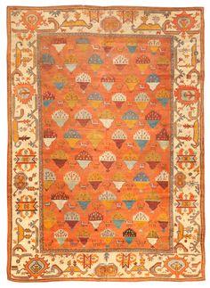 Antique Oushak Carpet, Turkey, late 19th century