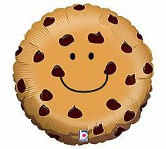"Adorable Chocolate Chip Cookie 21"" Mylar Balloon by Betallic. $3.50. Have a treat with this cute chocolate chip cookie balloon!"