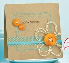 Love the twine flower and the colors