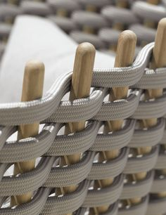 Wabi, Paola Lenti coated knitted rope furniture