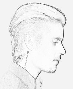 justin bieber boyfriend coloring pages | Justin Bieber Sketch | Justin Bieber in 2019 | Justin ...
