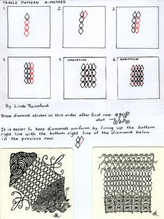 Free Zentangle How To Patterns | How to draw N-MESHED | Artistic Line Designs-all free | Scoop.it