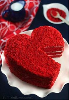 Red Heart Cake...looks yummy...