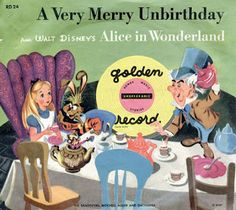 Vintage Disney Alice in Wonderland Little Golden Record