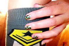 Polish Up – Nail Art Challenge – Theme #3 - Green Camo -> army style ;)