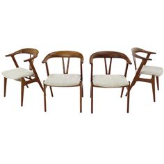 Six Rare Danish Dining Chairs In Rosewood  Modern Dining Room Endearing Barrel Dining Room Chairs 2018