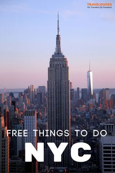 The best free things to do in New York City (NYC). Budget travel tips for your trip to the city of lights! | Blog by Travel Dudes: Community for Travelers, by Travelers!