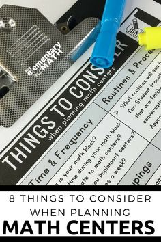 8 Things to Consider when Planning Math Centers - Make planning for your math centers easier with this free reflection sheet. #mathcenters #guidedmath #planningforcenters