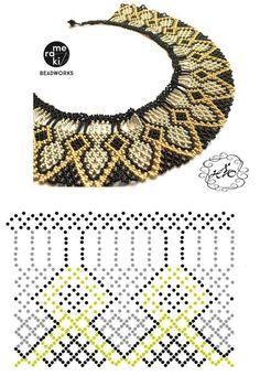 Дыхание Бисера's photos Diy Necklace Patterns, Beaded Jewelry Patterns, Beading Patterns Free, Beading Tutorials, Seed Bead Jewelry, Bead Jewellery, Beaded Collar, Handmade Beads, Loom Beading