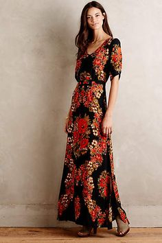 Wreathed Maxi Dress - anthropologie.com
