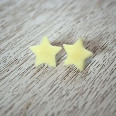 Glow in the Dark Star Polymer Clay Stud Earrings by LittlestOven
