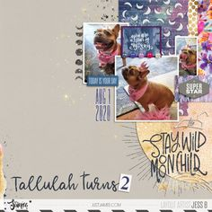Tallulah Turns 2 | The Lilypad Digital Scrapbooking Layouts, Layout Inspiration, Design Inspiration