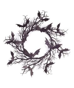 Top off your front door with a batty greeting sure to delight your guests with this spirited wreath.