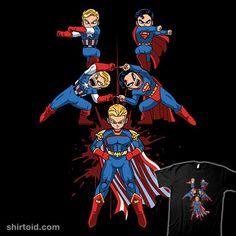 Patriotic Fusion | Shirtoid #captainamerica #comic #comics #fusion #homelander #primepremne #superhero #superman #theboys #tvshow