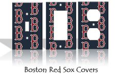 Boston Red Sox MLB Baseball Light Switch Covers Wallplates Switchplates Home Decor Outlet 14 STYLES AVAILABLE on Etsy, $6.50